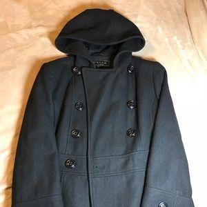 Super cute hooded pea coat size M